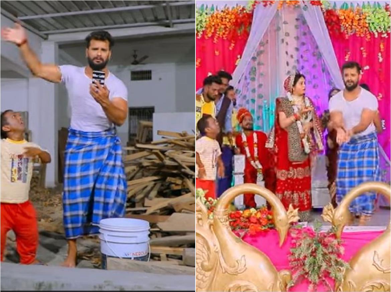 VIDEO: जब Khesari Lal की गर्लफ्रेंड करने चली दूसरे से शादी, लुंगी में भागते हुए बोले 'बाबू आओ ना'…