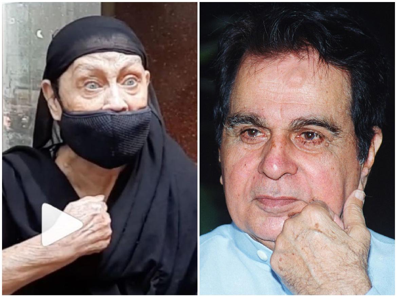 दिलीप कुमार को अंतिम विदाई देने पहुंची अंजान महिला, बताया खुद को दिलीप का रिश्तेदार