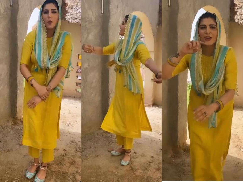Haryanvi Queen Sapna ने किया 'सासु थारो छोरो' पर किया गज़ब डांस, VIDEO देख फैंस भी लगे थिरकने