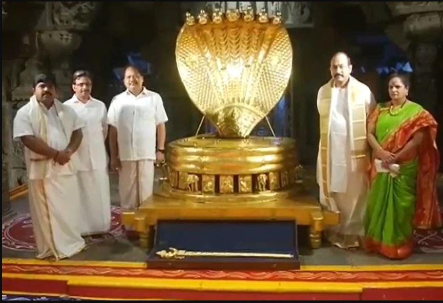 तिरुपति मंदिर में भक्त ने चढ़ाई 6.5 किलो सोने की तलवार, देखें 'सूर्य कटारी' की एक झलक