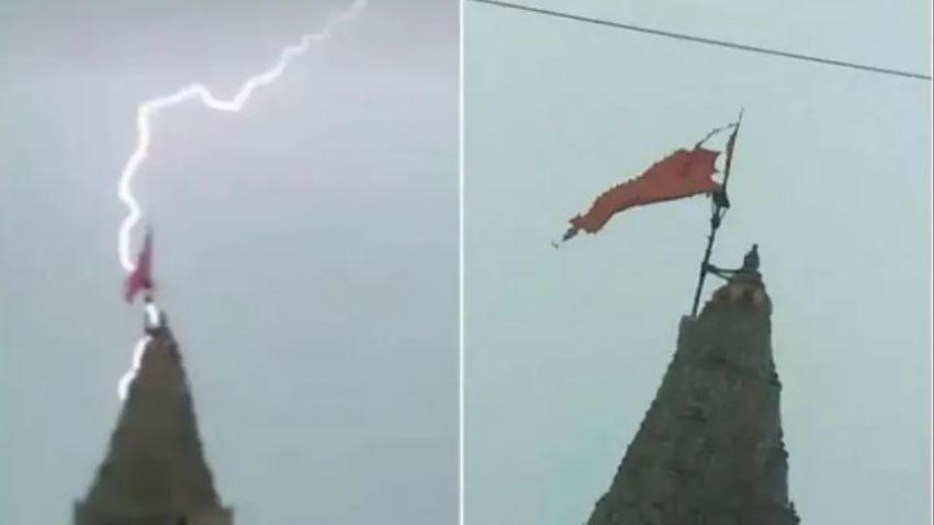 चमत्कार को नमस्कार : द्वारकाधीश मंदिर पर गिरी आकाशीय बिजली, मंदिर का बाल भी नहीं हुआ बांका