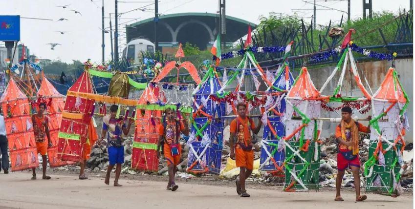 योगी सरकार का सुप्रीम कोर्ट का हलफनामा, यूपी में कांवड़ यात्रा पर पूरी तरह रोक नहीं