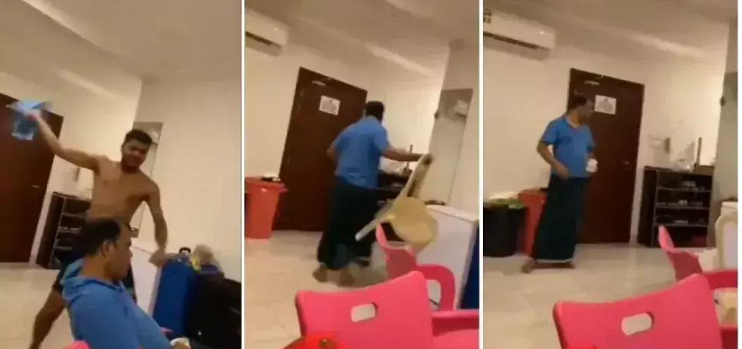 Football Live 2021 देख पापा के सामने लड़के ने की बनियान निकाल हूटिंग, पापा ने चेयर उठा किया… VIDEO