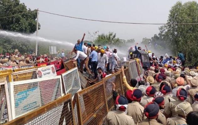 बिजली कटौती को लेकर आम आदमी पार्टी का पंजाब में प्रदर्शन, सीएम का फार्महाउस भी घेरा