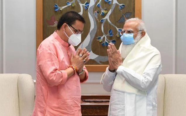 प्रधानमंत्री मोदी से मिले सीएम पुष्कर सिंह धामी, राष्ट्रपति से भी करेंगे भेंट