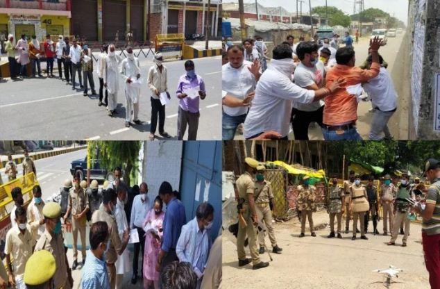यूपी: ब्लॉक प्रमुख चुनाव के दौरान कई जिलों में बवाल, पुलिस ने संभाला मोर्चा