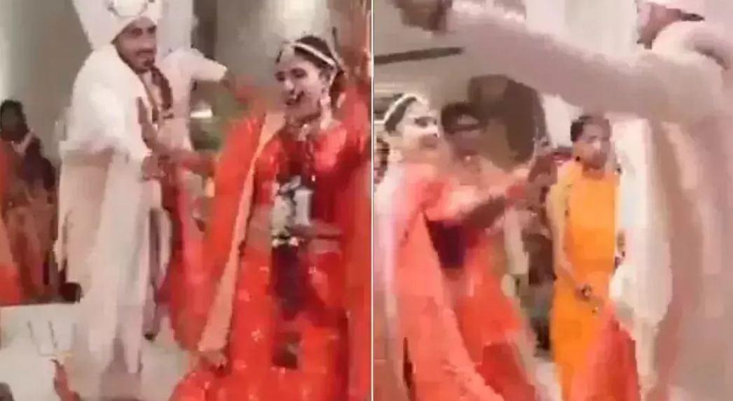 VIRAL VIDEO: शादी में फेरे लेते वक्त दूल्हा दुल्हन ने की ऐसी हरकत, लोग बोले-शादी है या संस्कारों की आहुति?