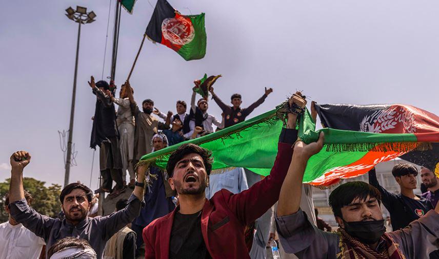 Afghanistan Crisis:तालिबान के खिलाफ सड़कों पर डटे अफगानी, विरोध प्रदर्शन में सड़कों पर उतरे