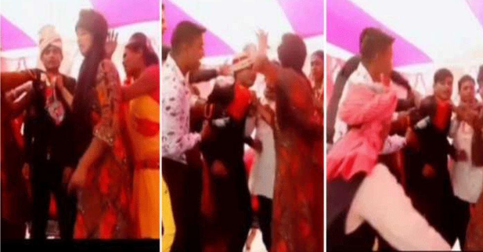 VIDEO: सज धज कर दूल्हा पहुंचा स्टेज पर, दुल्हन की बहनो ने घसीटते हुए कर दी पटाई उतारा…