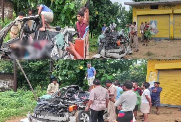 Five killed in accident: कंटेनर में पीछे से घुसी तेज रफ्तार कार, पांच की मौत