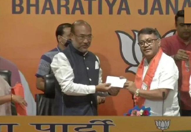 मणिपुर में कांग्रेस को बड़ा झटका, पूर्व प्रदेश अध्यक्ष गोविंदास कोंथौजम BJP में हुए शामिल