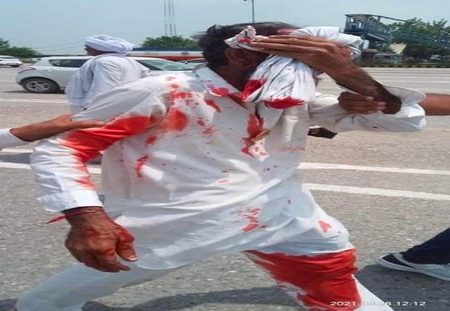 करनाल डीएम के आदेश पर पुलिस ने किसानों का बहाया ख़ून, वायरल वीडियो ने खट्टर सरकार की खोली पोल
