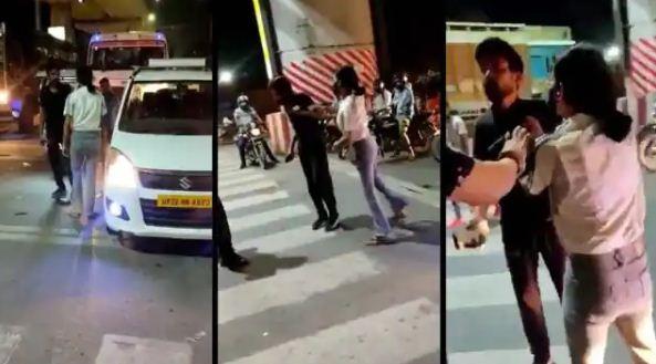 राजधानी की सड़क पर युवती के हाईवोल्टेज ड्रामा की एक और वीडियो वायरल, ट्विटर पर ट्रेंड हो रहा है #ArrestLucknowGirl