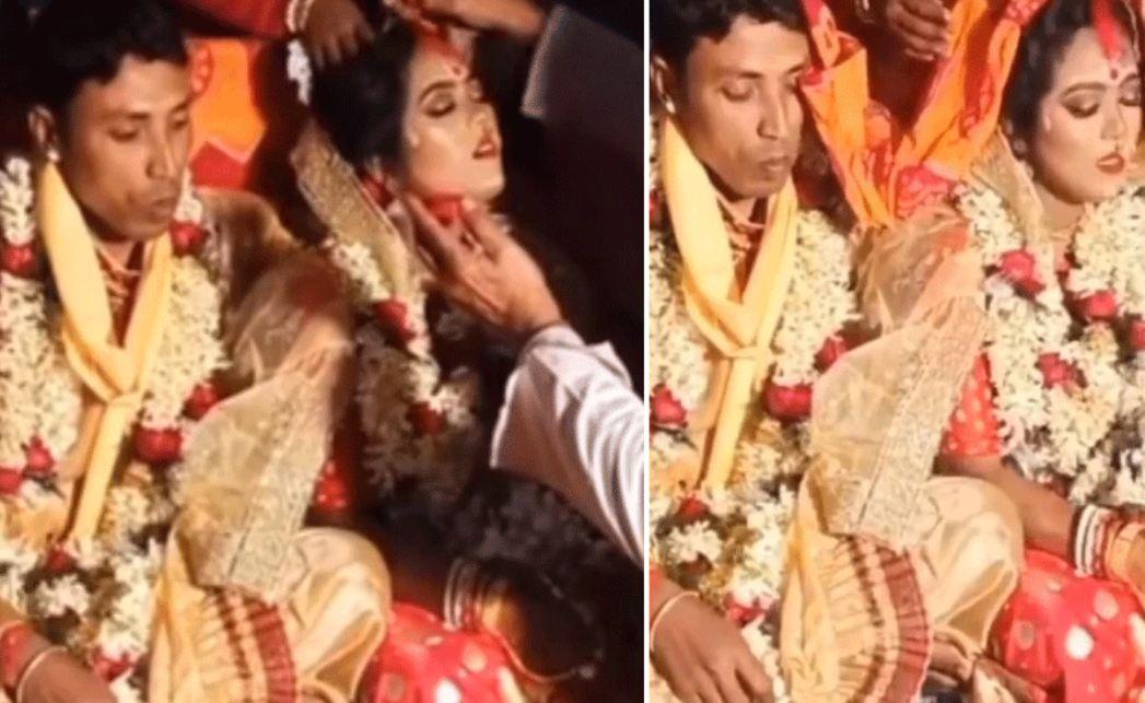 Funny video: शादी की रश्मों के बीच दूल्हे की जगह पंडित ने भर दी दुल्हन की मांग, फिर हुआ हादसा