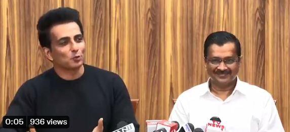 Sonu Sood ने की CM Arvind Kejriwal से मुलाकात, बोले- सोच के हिसाब से रास्ते मिलते हैं…