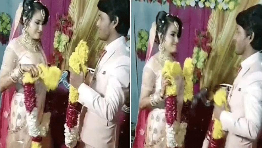 Wedding Videos: वरमाला के दौरान दुल्हन ने की दूल्हे के साथ ऐसी हरकत, लोग बोले- इनकी कैम्स्ट्री …