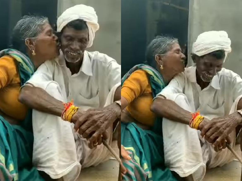 Funny VIDEO: सारे आम दादी ने किया दादा को KISS, फिर दादा हुआ ऐसा हाल…