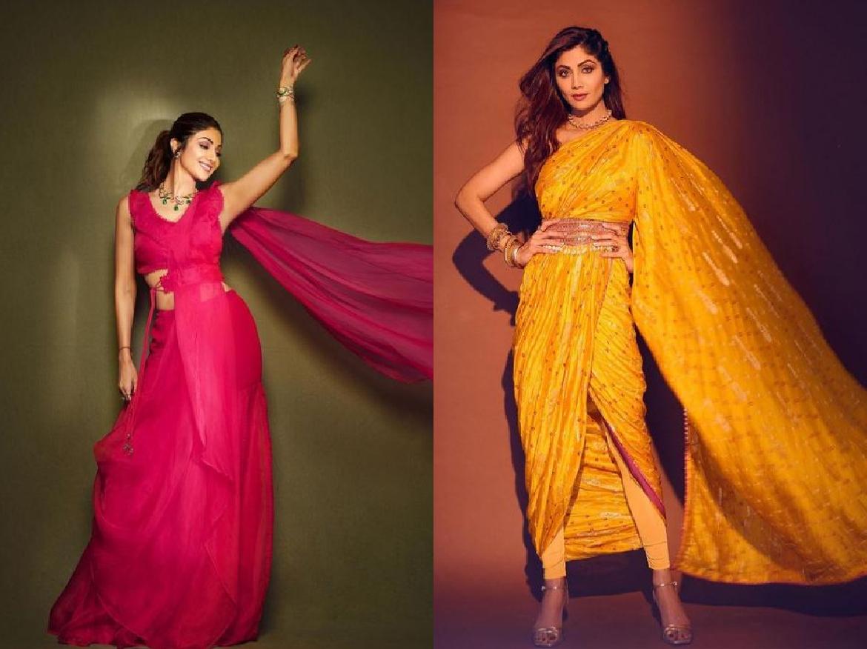 Shilpa Shetty Organza saree में दिखी बेहद गॉर्जियस, साड़ी की कीमत जान उड़ जाएंगे होश