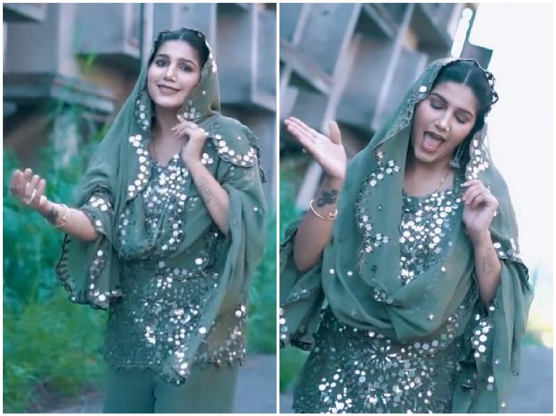 Sapna Choudhary Dance Video: ग्रीन सूट में सपना चौधरी ने किया जबरदस्त डांस, वायरल हुआ रूप सुहाना लगता है…