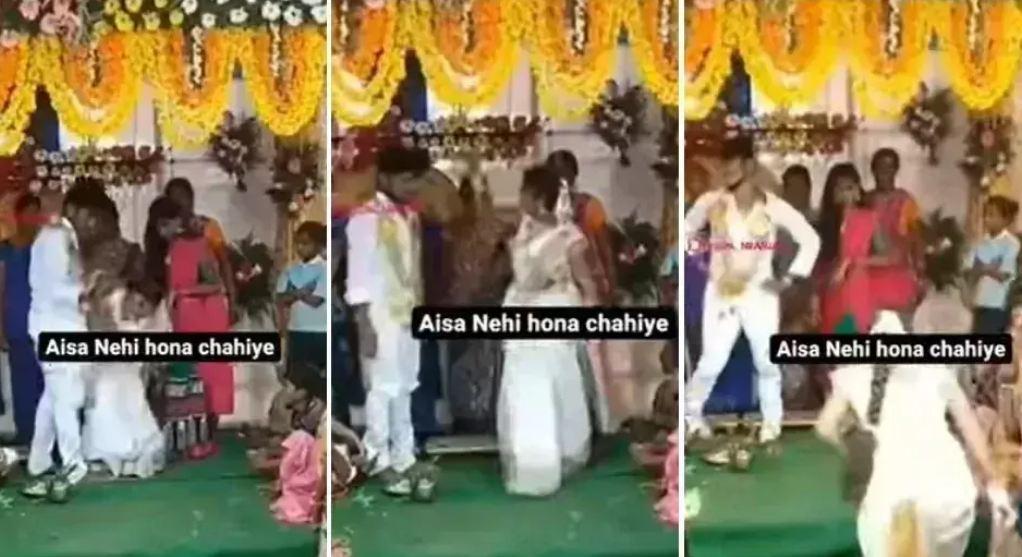 Wedding Video: मंडप में पहुंचते ही दूल्हा दुल्हन में शुरू हुई लड़ाई, दुल्हन मंडप से जाने लगी तो दूल्हे ने किया…