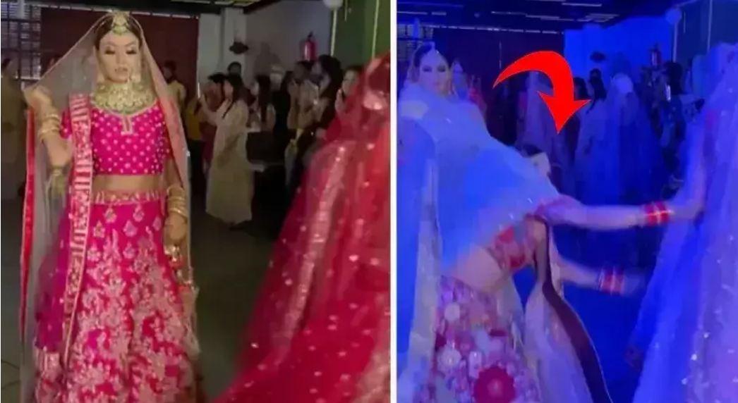 Wedding VIDEO: स्टेज पर चलते हुए दुल्हन का फिसला पैर, और फिर हुआ कुछ ऐसा देखने वालों ने आंखे कर ली बंद