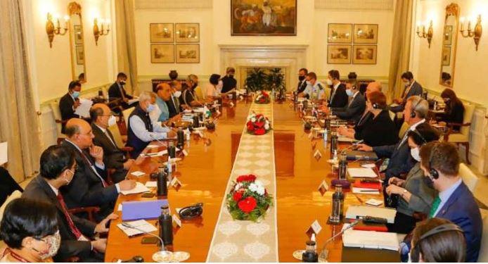 India Australia Meet:भारत-ऑस्ट्रेलिया के बीच वार्ता जारी, दोनों देशों के प्रतिनिधि मौजूद