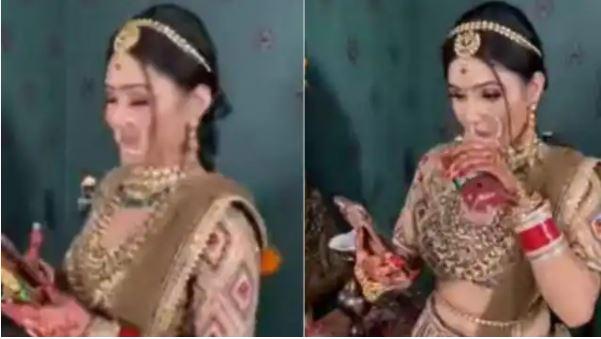 Video Viral में जब दुल्हन खुल गई पोल, तो शर्म से मुस्कुराती नजर आई