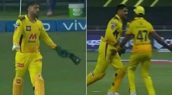 IPL 2021: महेंद्र सिंह धोनी को इस खिलाड़ी पर क्यों आया गुस्सा, देखिए वीडियो…