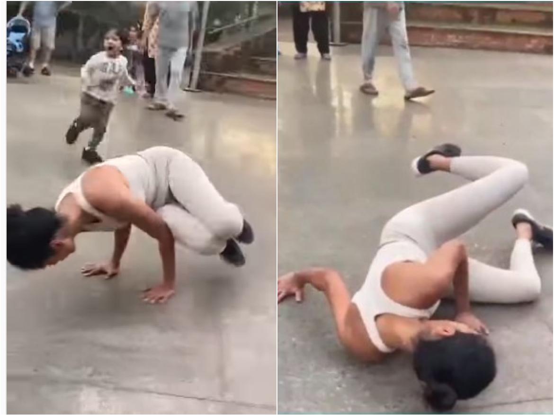 योगा करते हुए Sarah Jane Diaz के साथ हुआ हादसा, VIDEO शेयर कर बोली- Oops