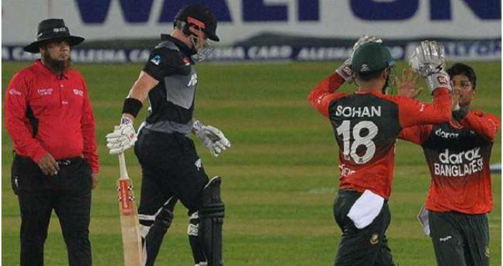 NEW Vs BAN: किवी टीम के कप्तान की सबसे बड़ी टी20 पारी बेकार, बांग्लादेश ने फिर हराया