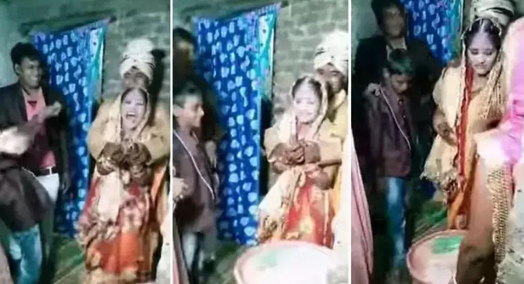 Wedding Video: शादी में हो रही थी चावल फेकने की रस्म, अचानक दूल्हे ने किया कुछ ऐसा कि दुल्हन की निकल गई चीख