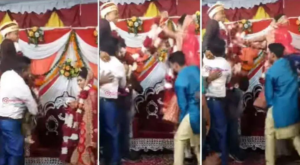Wedding Video: दुल्हन-दूल्हे को पहना रही थी वरमाला, हुआ कुछ ऐसा देखने वाले नहीं रोक पाये हंसी…
