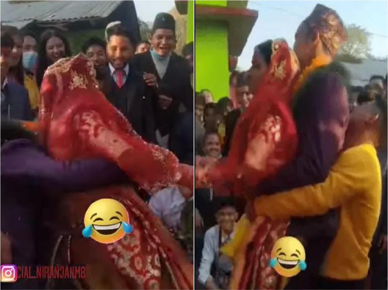 Wedding video: शादी की रस्मों के बीच दूल्हा दुल्हन को तीसरे शख्स ने पटका, फिर हुआ कुछ ऐसा…