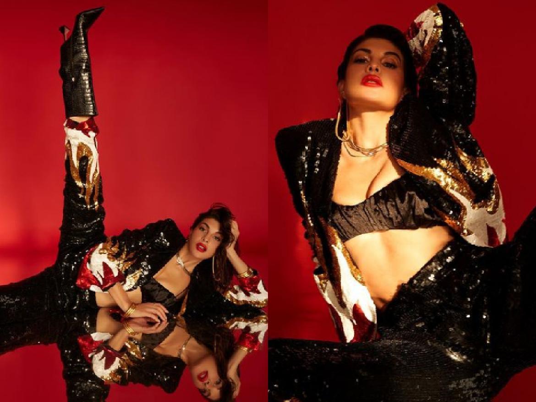 Jacqueline Fernandez ने कराया हॉट फोटोशूट, ब्लैक ब्रालेट में दिखा बोल्ड अवतार