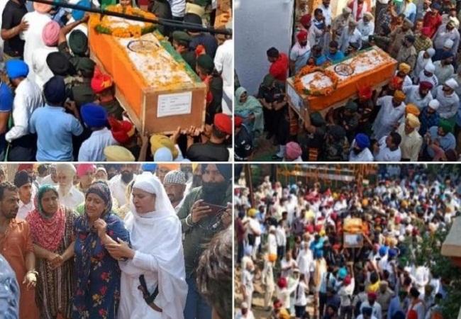 शहीद जसविंदर सिंह का पार्थिव शरीर गांव पहुंचते ही हर आंखें हो गईं नम, अंतिम दर्शन के लिए उमड़ा जनसैलाब