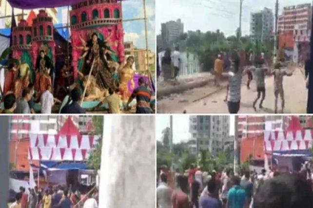 Bangladesh News: दुर्गा पूजा के दौरान अफवाह फैलाकर मंदिर और पंडालों को बनाया निशाना, गोली लगने से तीन की मौत